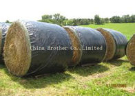China Gravure Printing Hay Bale Sleeves Polypropylene Woven Rolls Custom Length factory