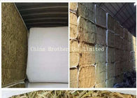 China White Color Hay Bale Sleeves Waterproof Tubular Woven Fabric UV Treated factory