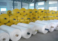 Durable Woven Polypropylene Roll , Red Waterproof Polypropylene Fabric Rolls