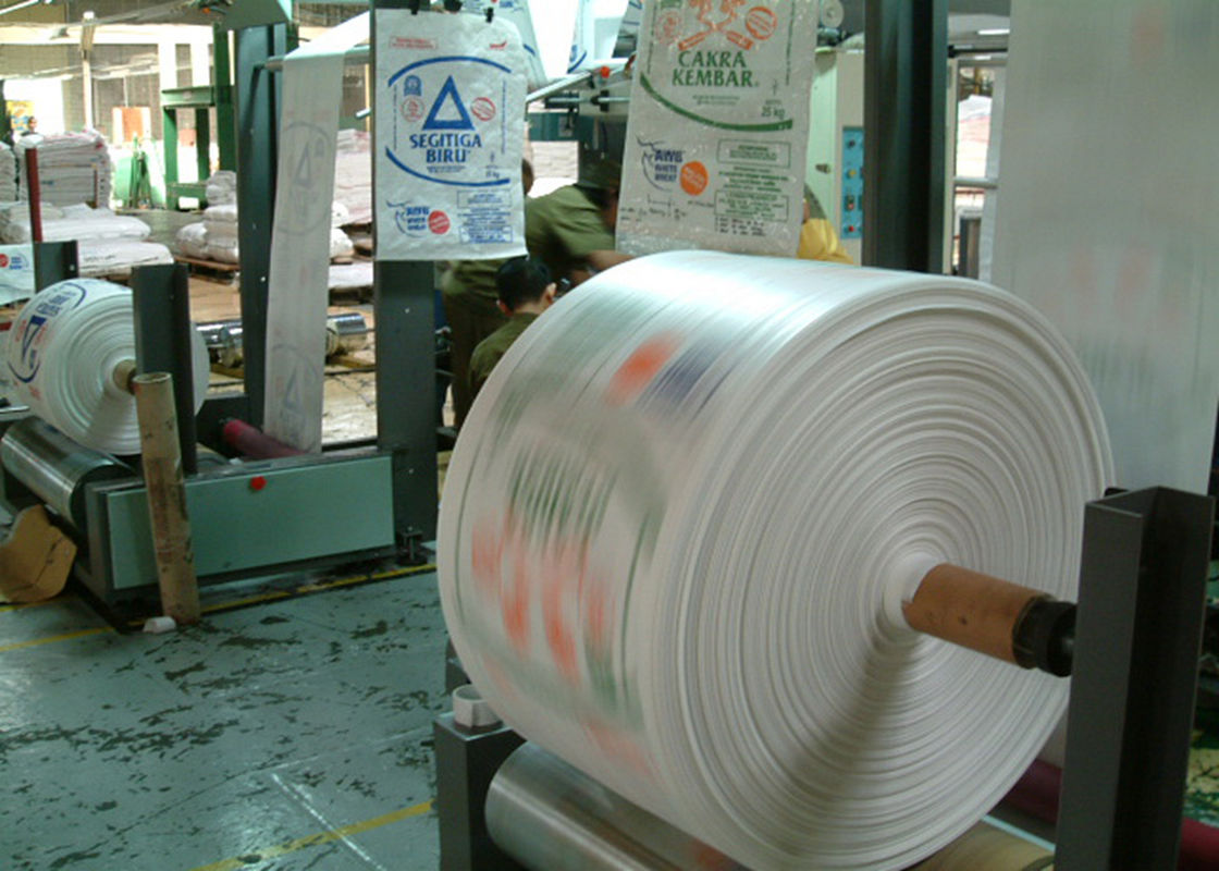 Eco Friendly Woven Polypropylene Fabric , Offset Printing Feed Sack Fabric