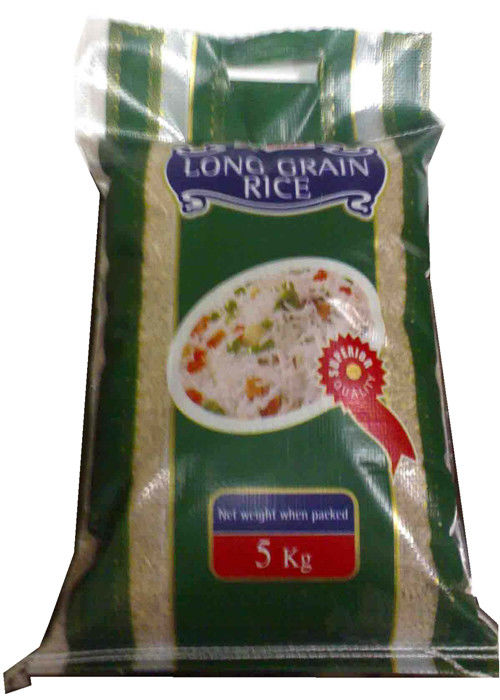Waterproof 25 Kgs PP Woven Rice Bag Gravure Printing 40gsm - 170gsm Weight