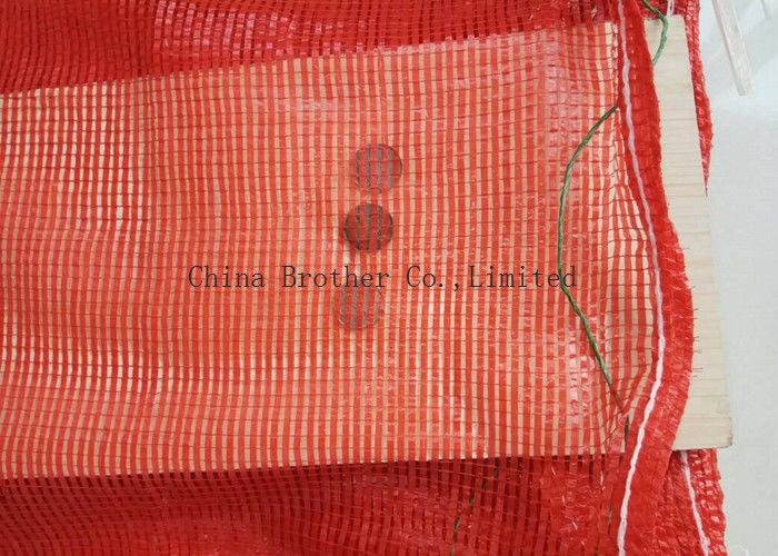 Plastic Polypropylene Woven Industrial Mesh Bags Tubular For Orange / Garlic