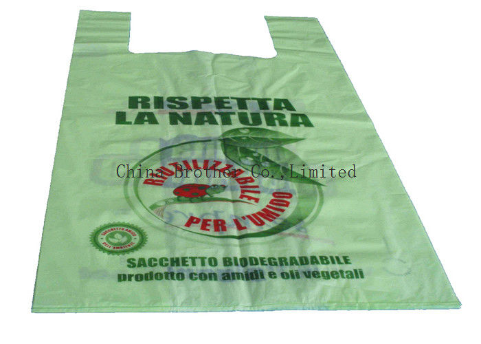 Shopping Custom Printed Plastic Bags , Clothes Packaging Plastic Packing Bags