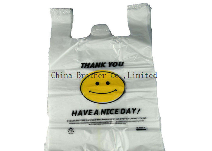 Biodegradable Plastic Grocery Bags / Shopping Bags High Tensile Strength