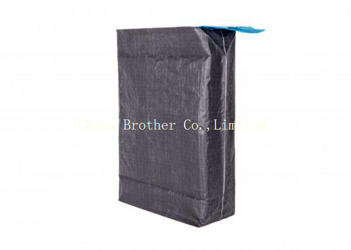 Black Plastic Valve Pack Bags Printed Anti - Slip Black Color For Packing Carbon