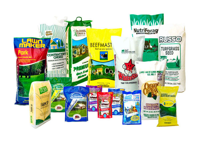 Moisture Proof Recyclable Bopp Printed Bags 20kg Load Cattle Feed Sack