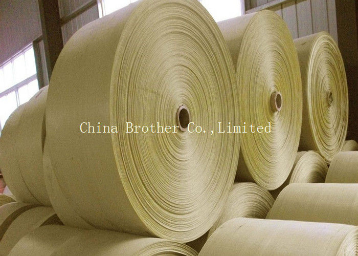 Brown PP Woven Polypropylene Fabric , Hdpe Woven Fabric Roll Anti - Static