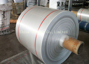 White Laminated PP Woven Fabric Roll Waterproof Breathable Gravure Printing