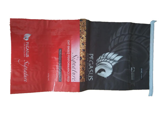 China Multi Colored BOPP Laminated PP Woven Sack Bags For Sugar / Feed Single Folded factory