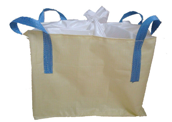 Recycled 1000kg PP Flexible Bulk Container , Jumbo Sack Bags With 4 Sling Loops