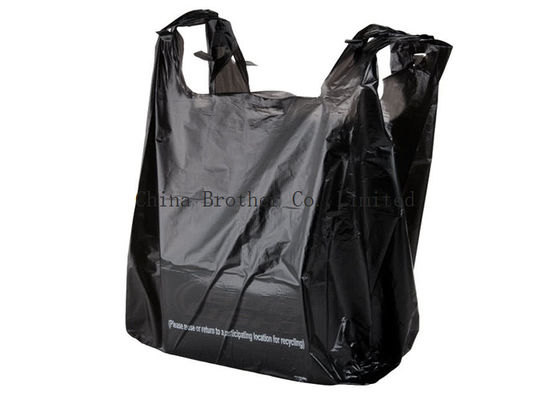 China Printed Plastic Carrier Custom Printed Plastic Shopping Bags Poly T Shirt Shape factory