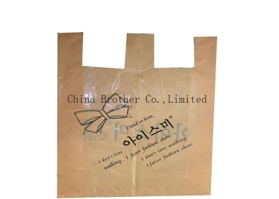 China Colored Plastic Merchandise Bags For Grocery , Recycled Reusable Plastic Shopping Bags 40 Micro factory