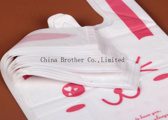 China PE Recyclable Die Cut Plastic Bags , Personalized Plastic Grocery Bags factory
