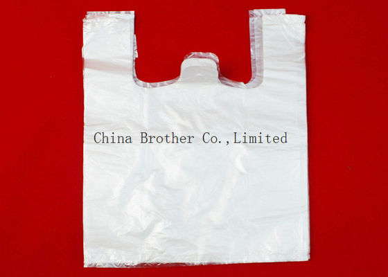 China Waterproof Printed Plastic Shopping Bags , Die Cut Handles Grocery Shopping Bags factory