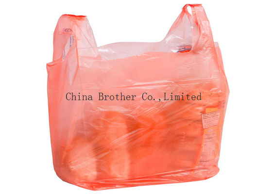 China Heavy Duty Custom Printed Plastic Shopping Bags With Handles For Clothing / Garbage factory