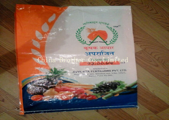Industrial Fertilizer Packaging Bags Plain Surface Dealing Non - Delaminating Packaging