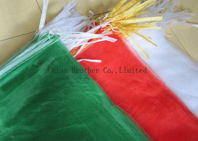 Radish Vegetable Packing Industrial Mesh Bags 25kg Breathable High Reinforcement