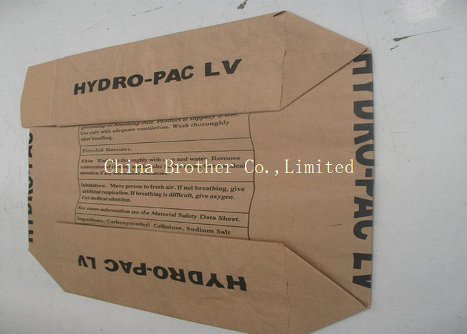 Brown Kraft Paper Valve Bags Load 25KGS , Cement Empty Bags Environmental Friendly