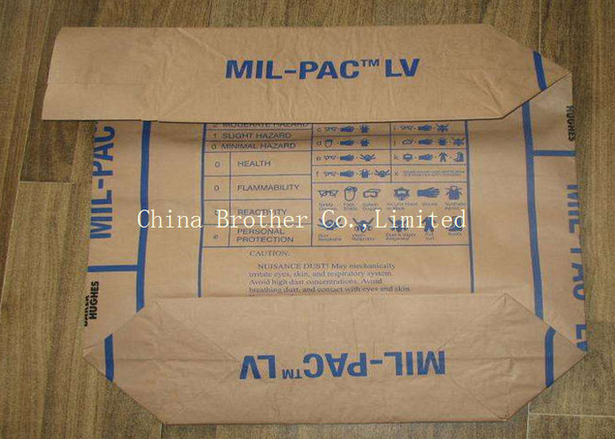 AD STAR Block Bottom Plastic Valve Bags For Chemical Powder Packaging