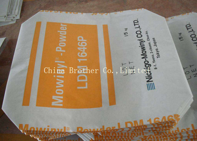 Durable Kraft Paper Valve Sealed Bags , Valve Sacks For Titanium Dioxide Packing