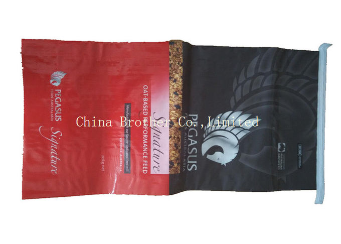 Pet Food Packaging BOPP Woven Bags , Laminated Woven Polypropylene Bags