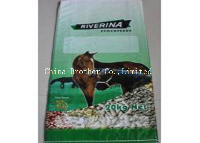 High Tensile Strength Animal Feed Sacks 25kg Load Bopp Lamination For Dog