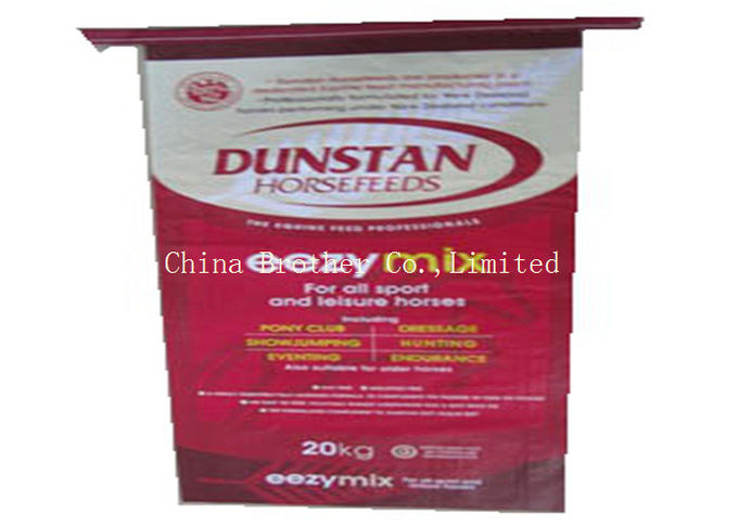 Woven Polypropylene Poly Feed Bags With Customized Printing 25kg - 50kg