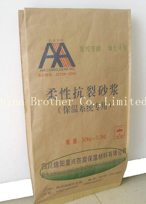Lightweight Paper Valve Bags , Industrial Paper Bags For Packing Cement