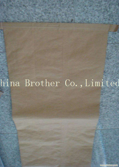 Large Brown Multiwall Paper Bags Non - Leakage For Packing Potato Starch