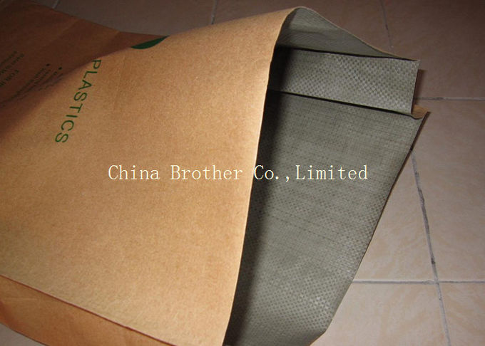 Block Bottom Pasted Valve Multiwall Paper Bags Sewn Open Mouth Brown Color