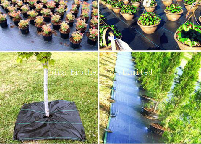Black Woven Ground Weed Control Fabric Tea - Resistance Eco Friendly